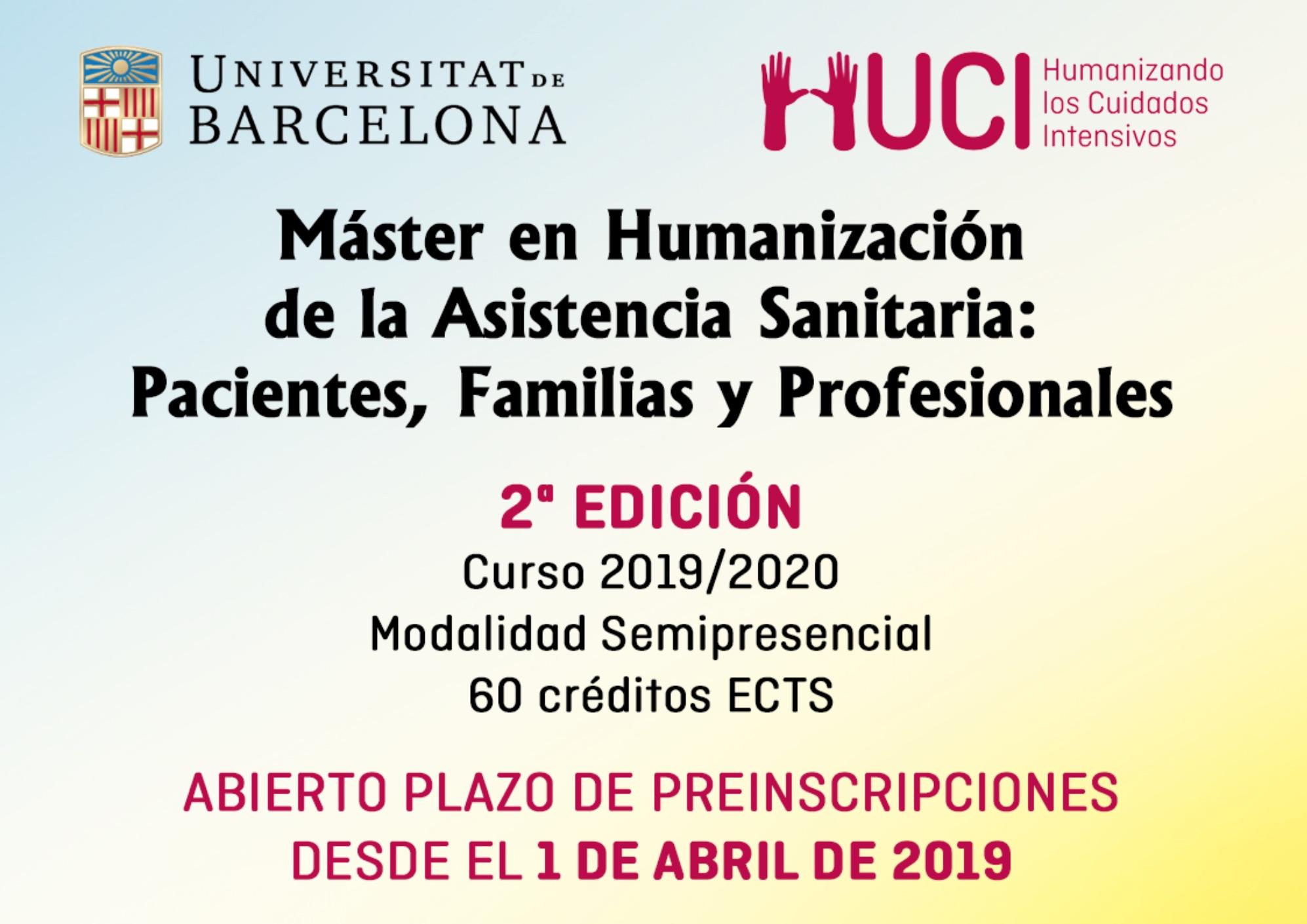 La AMCI avala la segunda edición del Master en humanización de la asistencia sanitaria